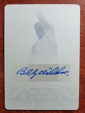 1/1 Billy Williams 2015 Leaf Legends of Sport Auto Plate Chicago Cubs 1 of 1