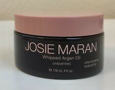 JOSIE MARAN Unscented Whipped Argan Oil Ultra Hydrating Body Butter 4 Oz Sealed!