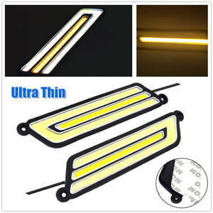 DC12V Car Flexible COB LED Daytime Running Light Turn Signal Light Side Marker