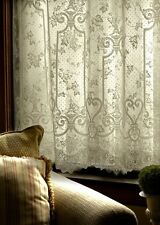 """Heritage lace English Ivy - 60""""x63""""Panel, Floral-White."""