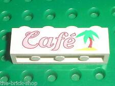 LEGO PARADISIA Brick with Cafe and Palm Tree 3010px32 /Set 6411 Sand Dollar Cafe