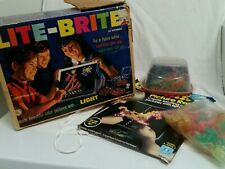 VINTAGE ORIGINAL 1967 LITE BRITE RARE Blue | Sheets | PEGS HASBRO IN BOX