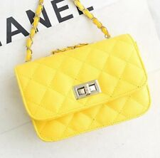 Fashion Korean Style Lady Quilted Leather Chain Crossbody Shoulder Bag Handbag