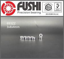 693ZZ Bearing 3x8x4 mm ABEC-7 (10PCS) Miniature 693 Z ZZ Ball Bearings 693-2Z