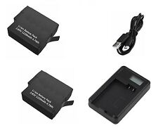 2x replacement Li-ion Battery & USB Charger for Gopro Hero 5, BT-501 / AHDBT-501