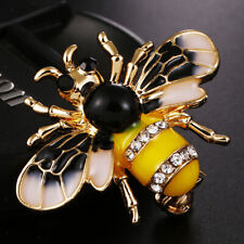 Insect Black Gold Lapel Pin Brooch Fashion Enamel Bumble Bee Animal Brooch