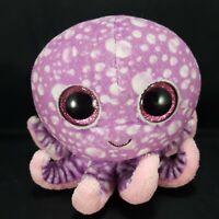 Purple Pink White Octopus Beanie Boo Glitter Eyes Plush Stuffed Animal TY Legs