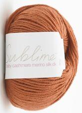 Sublime Baby Cashmere Merino Silk DK 50g - 45 Colours - Complete Range 525 Cutie Carrot