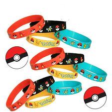 4PCS Japan Fashion Cartoon Pokemon Go Pikach Wristband Silicone Bracelet