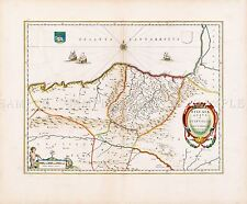 MAP ANTIQUE BLAEU 1662 BISCAY NORTH SPAIN OLD LARGE REPLICA POSTER PRINT PAM0563