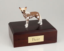 Chinese Crested Dog Pet Funeral Cremation Urn Avail 3 Different Colors & 4 Sizes