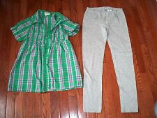 Lot of 2 Pcs Girls Comfy Outfits, size 10-12, Pre-owned