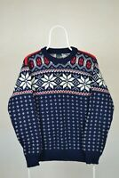 DALE OF NORWAY Men Jumper 100% Pure New Wool Sweater size 52