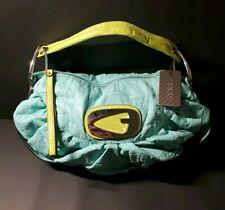 Guess Dreamcatcher Hobo Handbag Purse  Blue & Green Vinyl Fun Summer Colors NEW