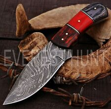 EVEREST HUNT CUSTOM HANDMADE DAMASCUS STEEL HUNTING CAMP SKINNER KNIFE B9-1734