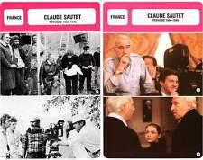 FICHE CINEMA x2 : CLAUDE SAUTET DE 1950 A 1995 -  France (Biographie/Filmo)