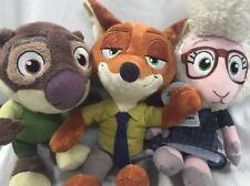 "Disney Zootopia Plush Nick Wilde Fox Mayor Bellwether Sheep Mr Otterton Otter 8"""
