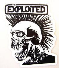 Exploited Skull Sticker - mohawk crust punk UK british