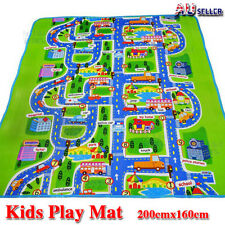 Kids Rug Play Mat Cushion Soft Carpet for Baby Educational Road Traffic City