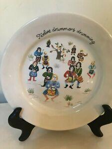 Juliska Twelve Days of Christmas Plates for Neiman Marcus