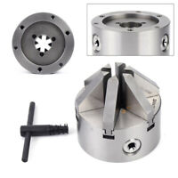 """100MM 6 Jaw 4"""" Lathe Chuck Self-Centering M8 Hardened Steel CNC lathes accessory"""