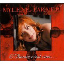 CD Single Mylène FARMER L'amour n'est rien 2 tracks digipack NEUF SCELLE
