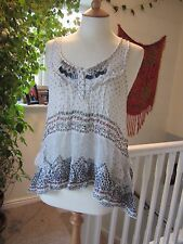 River Island ladies Fab Sequined Tunic Nice detail Size10 Good Gentle Worn Cond.