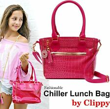 Clippy Pink Handbag - Cool Chiller Lunch Bag Style Fashion School Teen Girl Kid