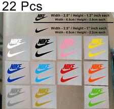 22 Pcs Nike Iron On Heat Press Nike Poly Flex Patch Sports Logo Diy T Shirt Mix