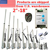 """2""""-18"""" Inch 220lb/330lbs Electric Linear Actuator Heavy Duty 12V Putter Motor IG"""