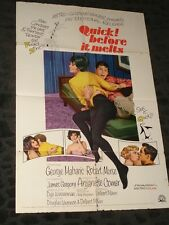 Quick Before it Melts folded movie poster - 1965- Sex Comedy
