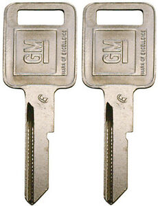 "2 NEW GM Logo OEM IGNITION ""E"" Key Blank Uncut 320404 B44P B44 01154606 56-E"