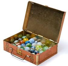 Old Photo.  Box Of Glass Marbles From The 1920s