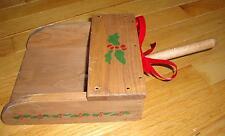 GRAIN SCOOP Christmas Card Holder Wooden Wall Pocket Wood Vintage