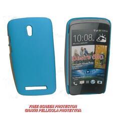 Pellicola+custodia BACK COVER RIGIDA AZZURRA per HTC Desire 500 (A1)