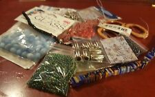 lot beads jewelry making shell glass acrylic metal charms destash #18 New