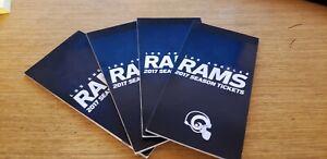2017 Los Angeles LA RAMS Season Ticket stub book Cowboys all proceeds to charity
