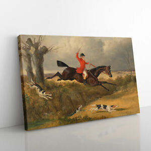 Fox Hunting Vol.2 By John Frederick Herring Canvas Print Wall Art Picture