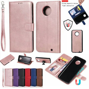 2 in 1 Removable Flip PU Leather Wallet Case Cover For Motorola Moto G6 G E4 G5S