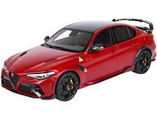 ALFA ROMEO GIULIA GTAM RED & DISPLAY CASE LTD ED 1/18 MODEL CAR BY BBR C1852