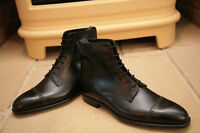 Handmade Mens Oxford Dress Boot, Men Black Lace Up Ankle Leather Boots