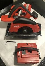 HILTI WSC 6.5 A24 CORDLESS CIRCULAR SAW USED + Bag, 2 batteries, Charger & Blade