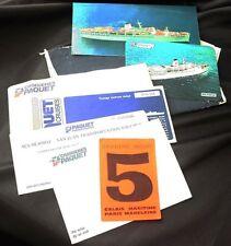 CROISIERES PAQUET Cruise Line MERMOZ Paper Lot
