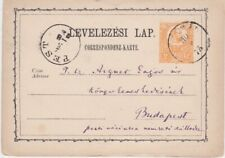 Hungary-1873 2 kr orange postal stationery postcard Pest cover to Budapest
