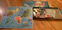 Vintage Risk Board Game 1959 Parker Brothers Continental Game Missing Dice