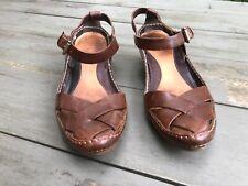 Ballerines Clarks beau cuir brun UK 5 1/2 = 39 talon 5,5cm
