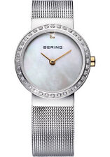 Bering Womens 10725-010 Classic White Dial Stainless Steel Mesh Band SS Watch