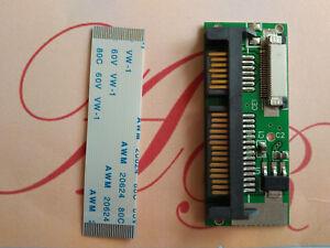 24 Pin SATA LIF To 7+15 22Pin SATA Macbook Air SSD HDD Adapter Card + Cable