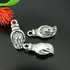 36 Stk Antike Silber Legierung Buddha Hand Form Handwerk Anhänger Charme 39226