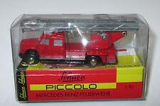 """Schuco Piccolo 01451 Mercedes Benz l6600 Drehleiter """"pompiers"""" Nouveau/Neuf dans sa boîte"""